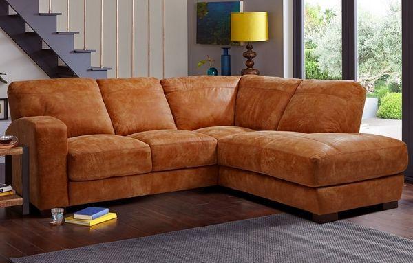 Fine Quality Leather Corner Sofa